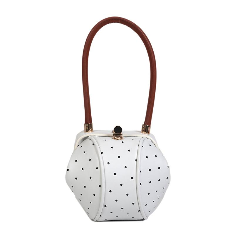 83e98f3b6a091 Großhandel Elegante Tasche Schöne Handtasche Kreis Ring Griff Handtaschen  PU Leder Tote Taschen Für Frauen Von Edmsaiko