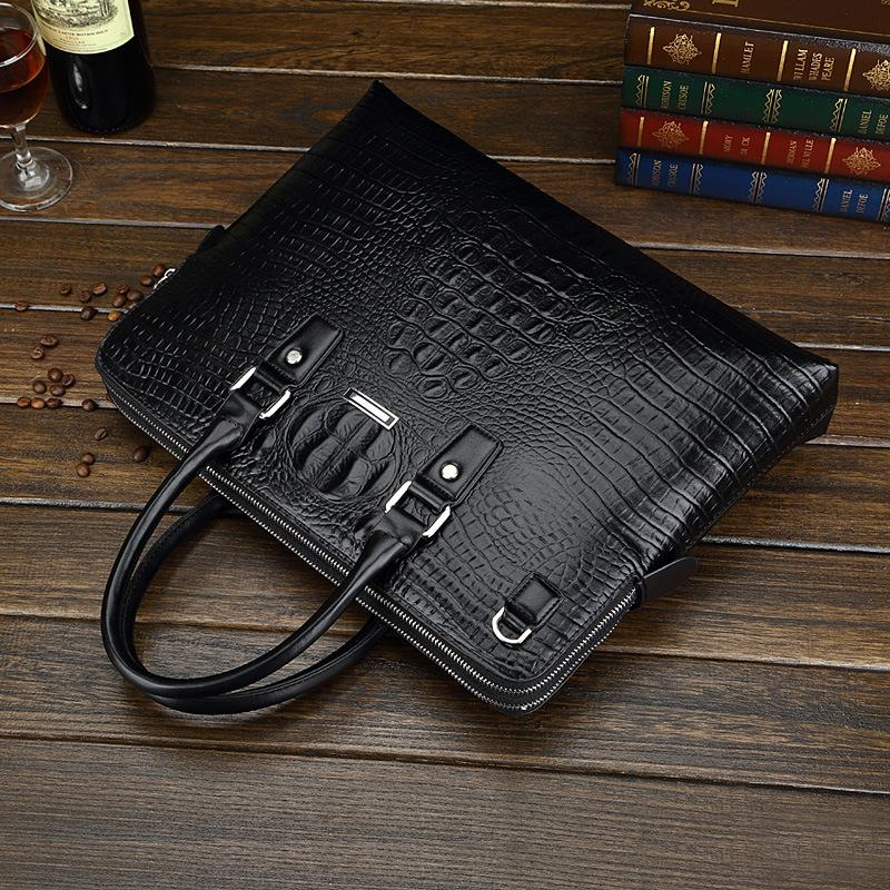 Pretty2019 Male Package Book Do Genuine Leather Business Affairs Man Grain Handbag Cowhide Crocodile Generation