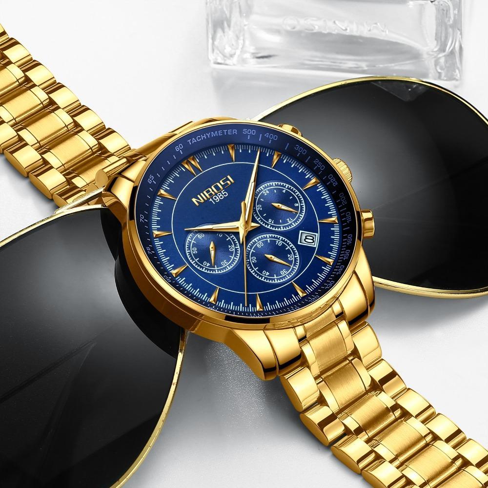 9478ab8e8ea9 Compre NIBOSI Reloj De Cuarzo Para Hombre Relojes De Primeras Marcas De  Lujo Arco De Cristal Hombre Reloj De Negocios Reloj De Pulsera Automático  Fecha ...