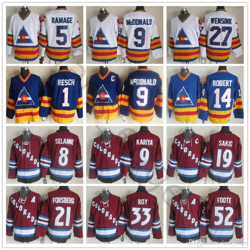 new styles 67866 6b3a7 Colorado Avalanche Winter Classic Jersey #9 Lanny McDonald 1 Chico Resch 27  John Wensink 14 Rene Robert 5 Rob Ramage Men Ice Hockey Jerseys