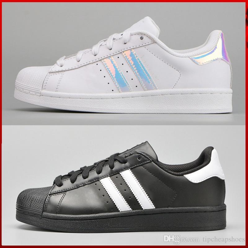 various colors 412fa 3cb73 Compre Adidas Superstar Stan Smith Homens E Mulheres Superstar OURO Sapatos Stan  Smith Sneakers Sapatos Casuais Fábrica Outlet Frete Grátis Size36 45 De ...