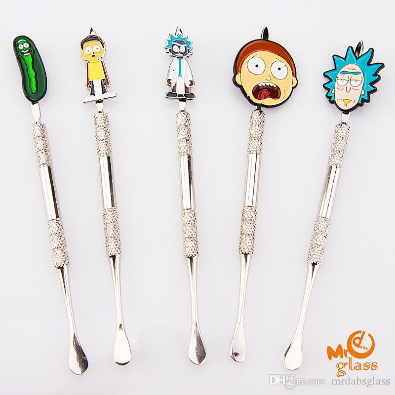 Wax Dabbers Stainless Steel Dabber Cartoon Metal Dabber glass bongs tool,water pipe, dab oil rigs smoking accessories for glass bow,pipes