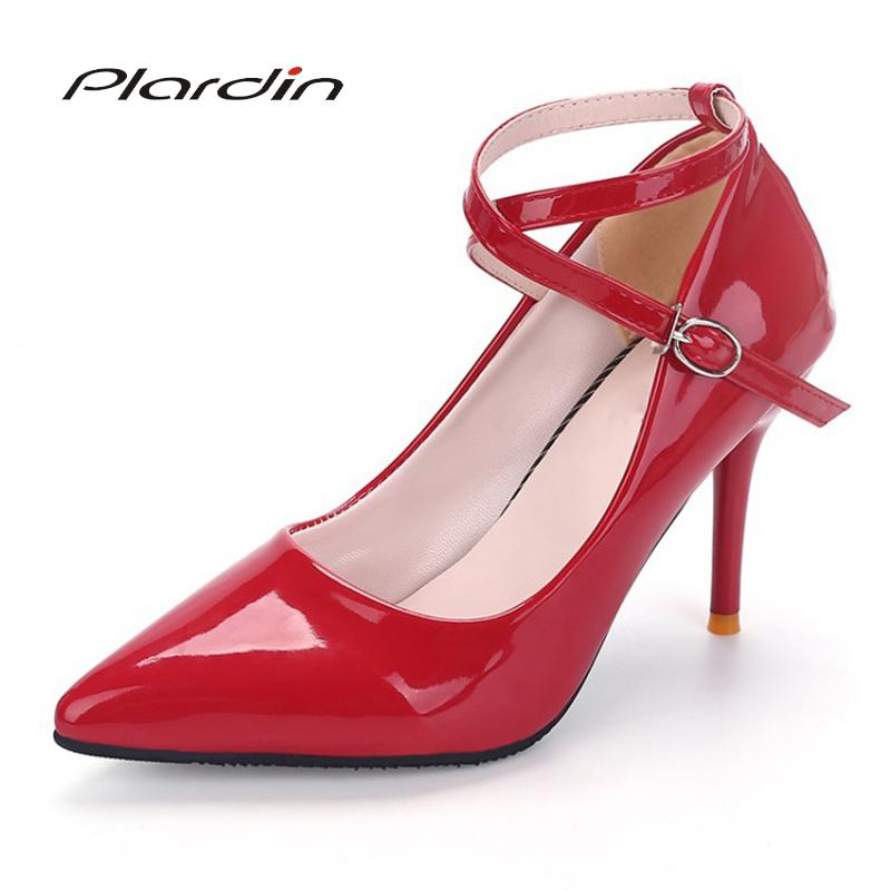 55d3455bb1a Shoes Plardin Woman Pumps Cross Tied Ankle Strap Wedding Party Platform  Fashion Women High Heels Suede Ladies Blue Shoes Shoe Boots From Deals111,  ...