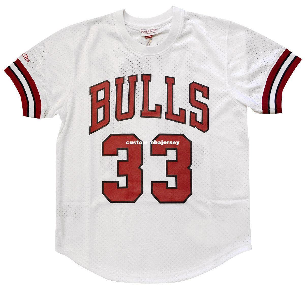 67535ceedc2 Compre Barato Personalizado Scottie Pippen Mitchell Ness Mens Mesh Jersey  Camisa Cosida Summer Tee Retro Camiseta De Baloncesto A  22.34 Del ...