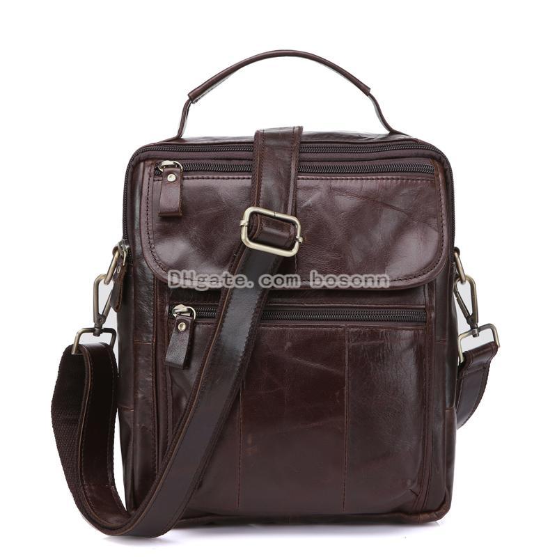 fa1eade807 NEW Genuine Leather Messenger Bag Crossbody Bags For Men