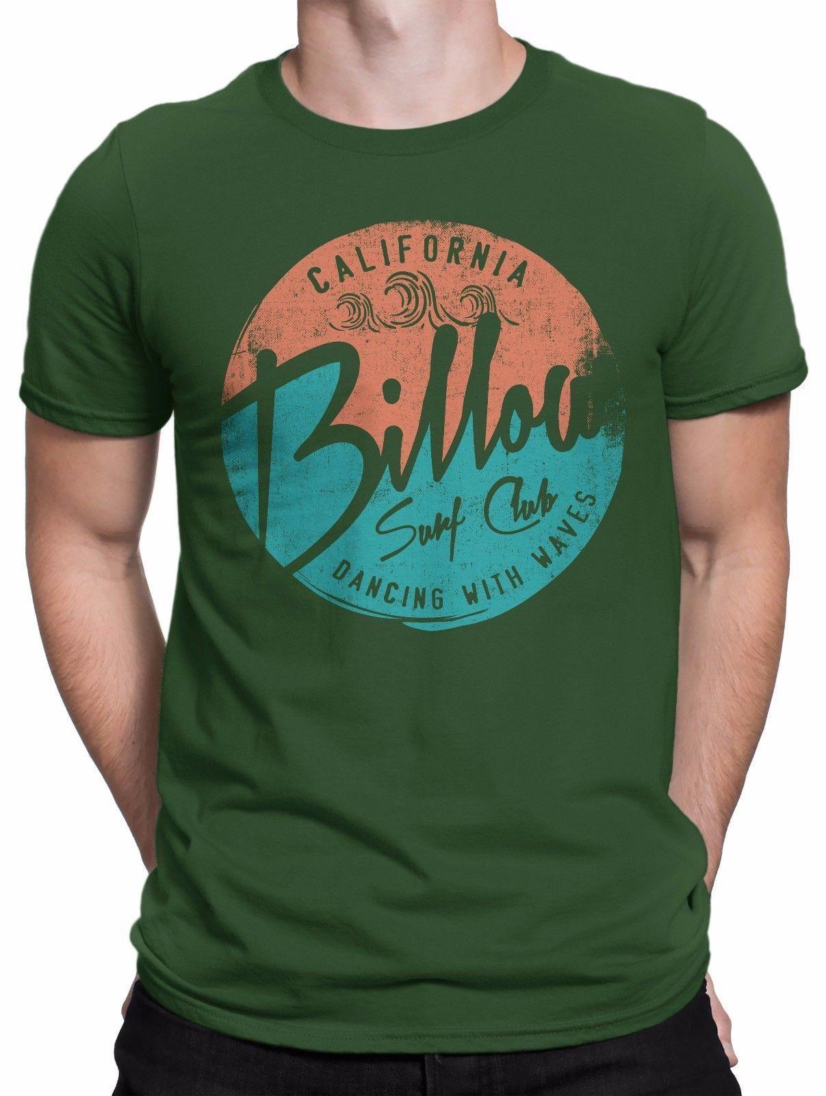 differently d26b5 8e7fe T-SHIRT Uomo Billow Surf Club - maglietta 100% cotone - VERDE