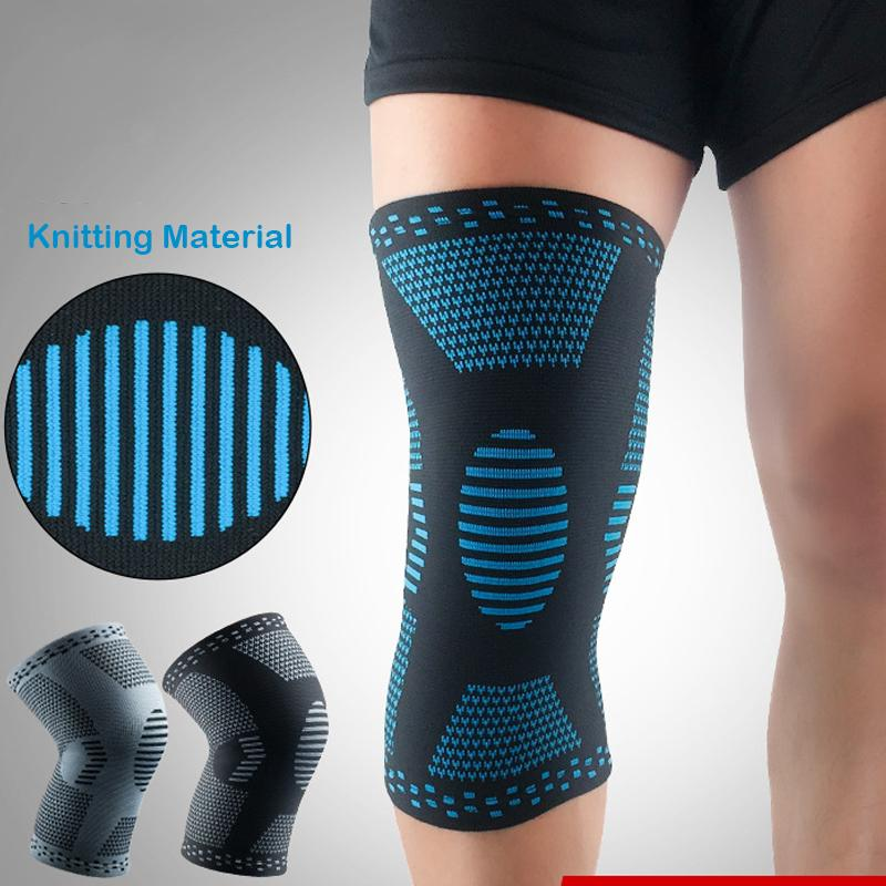 16f37ab199 2019 Gym Sport Tape Knee Brace Knitting Anti Slip Breathable Elastic ...