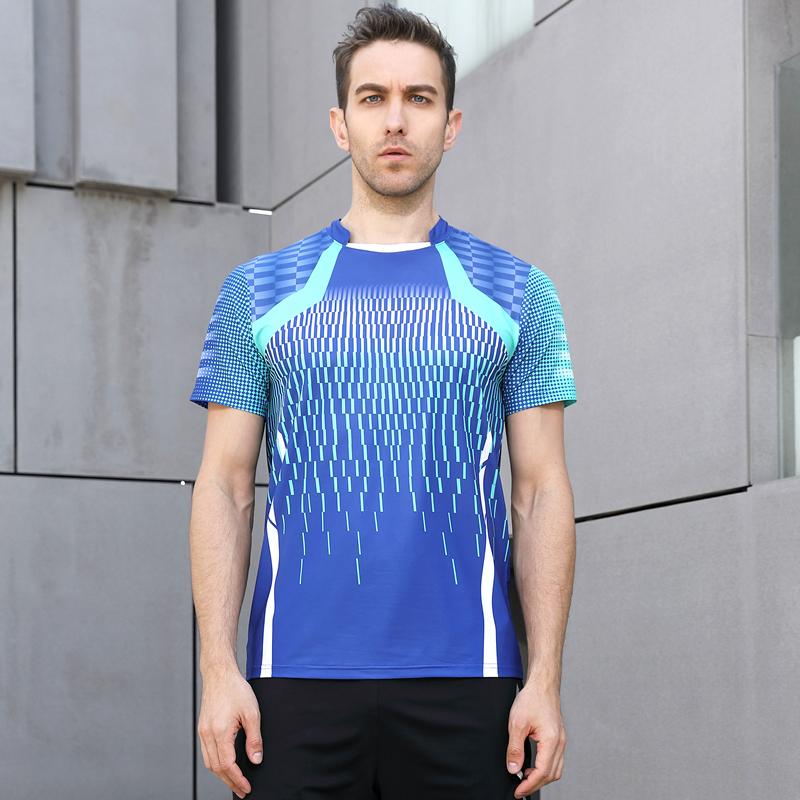 8d9c9165d High Quality Blue Mens Running Sport Outdoor Fitness Gym Quick Dry Comfort  Breathable Badminton Shirt,Men Table Tennis T Shirts