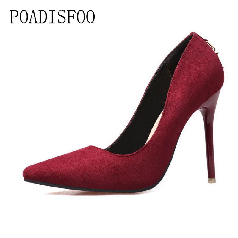 Designer Dress Shoes Fashion Minimalist Fine With High Heel Suede