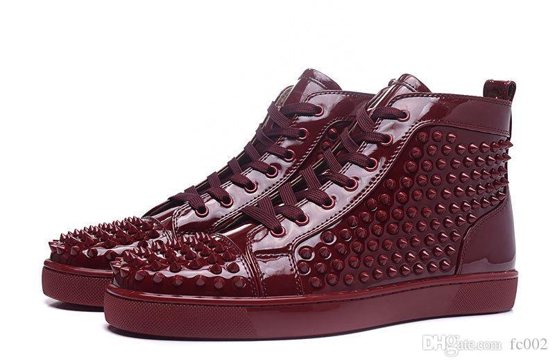 timeless design fd2f0 508d6 Scarpe uomo Blue Lace up Rivet Bottoms rossi Sneakers Scarpe donna scarpe  con tacco alto da uomo Leather Loafers Leather