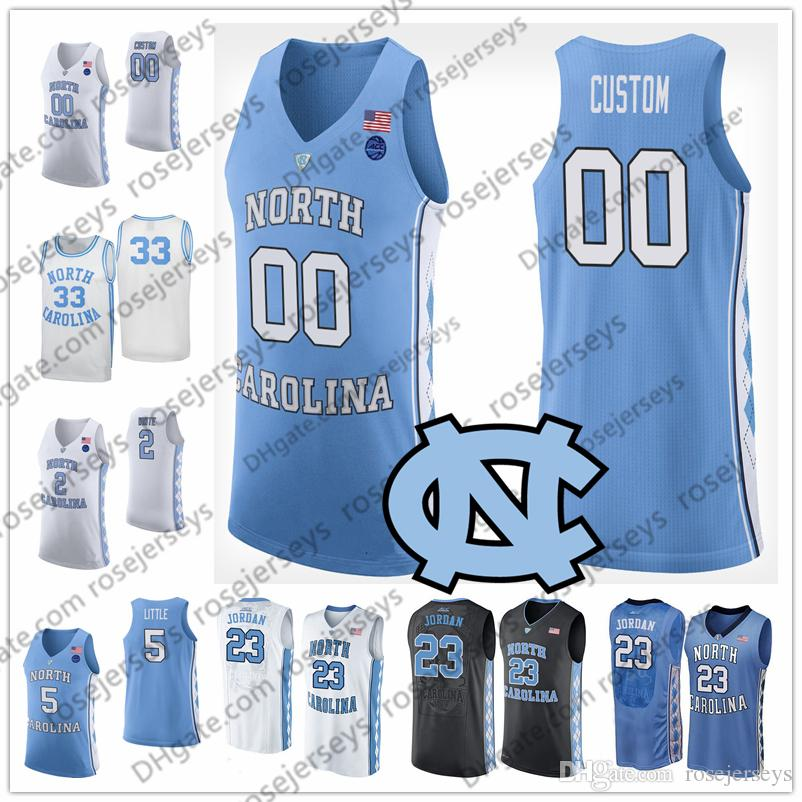 fcf6d106c629 2019 Custom North Carolina Tar Heels College Basketball Blue Black White  Stitched Any Name Number  13 Cameron Johnson Maye Little UNC 2 Jerseys From  ...