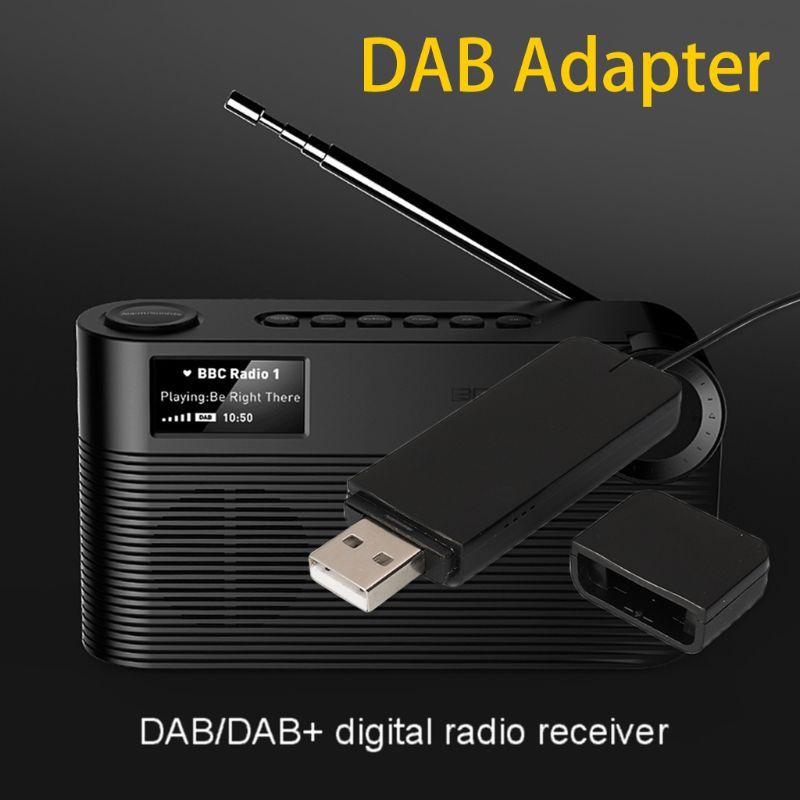 New DAB Digital Radio Receiver with Antenna for Bluetooth Speaker Home Stereo TV with USB Read Disk Function Accessories
