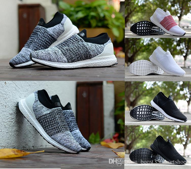 f06618a50c8d 2018 Wholesale Hot Sale Supply Ultraboost Uncaged Men S Casual Shoes Grey  Orange Laceless Mid Slip On Women Sneakers Ultra Boosts Size 36 45 Mens  Shoes ...