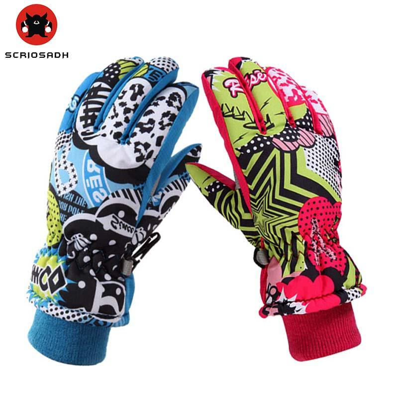 baa55fa14 WILD SNOW Winter Children Warm Gloves Waterproof Windproof Non-slip ...