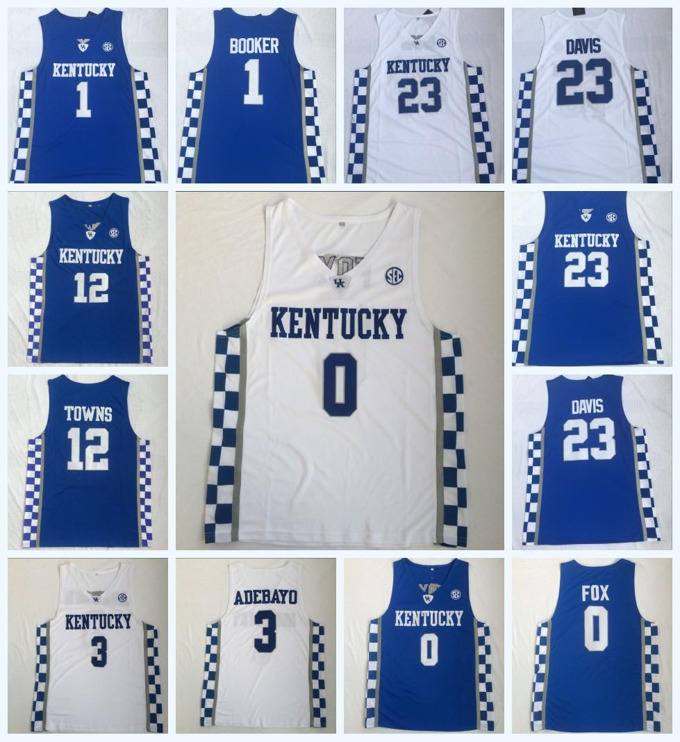 reputable site a04d9 25990 2019 NCAA Kentucky Wildcats College 0 FOX 3 ADEBAYO12 TOWNS 23 ANTHONY  DAVIS 1 DEVIS 100% Stitched College Basketball Jerseys S 3XL Fast Shipping  From ...