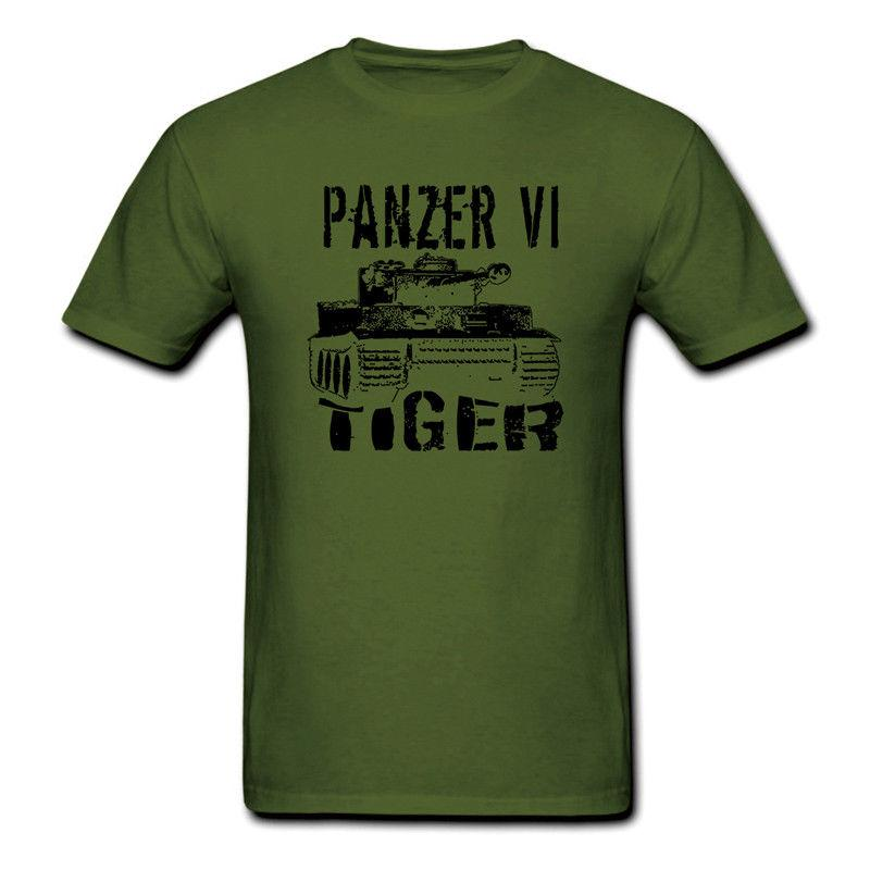 Funny T Shirts Mens Achtung Tiger German Panzer Tank Black Tee Shirt Ww2 Military Armour T-shirt High Quality And Inexpensive Men's Clothing Tops & Tees