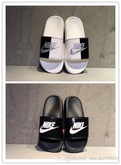 official photos 53586 2ecd2 brand new 2019 Big Size Men Couple Sandals fashion soft Slippers Shoes Flip  Flops Slide Fashion Designer Free Shipping