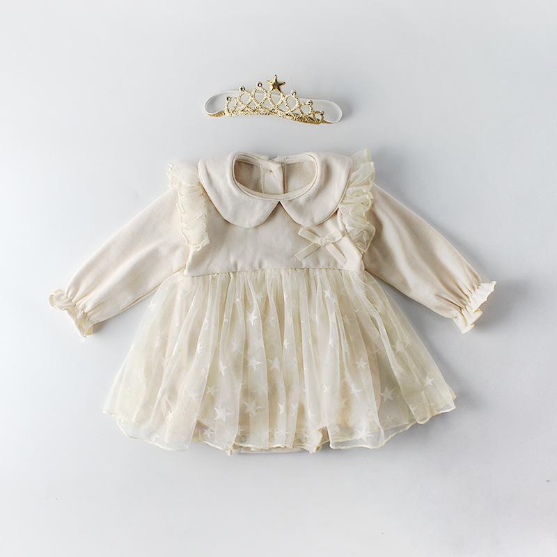 b88b720e4068 2019 Brand Newborn Infant Baby Girl Clothes Lace Tutu Dress Romper ...