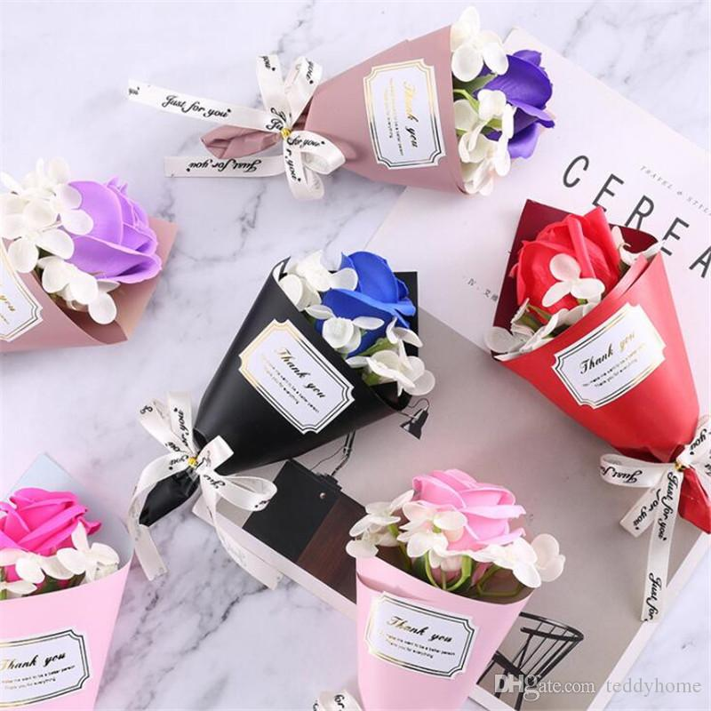 2019 Wholesale Soap Flowers Artificial Fake Flower Creative Mini