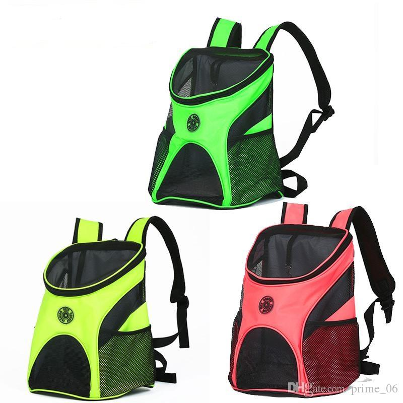 HOOPET Fashionable Breathable Carrying Cat Puppy Dog Pet Carrier bag outdoor travel foldable Comfort double Shoulder Backpack