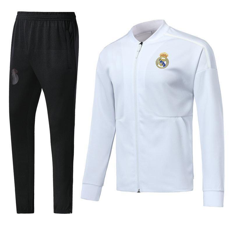 on sale 98700 e30ec Real Madrid soccer jacket 2018 2019 chandal full zipper tracksuit 18 19 de  foot ISCO Real Madrid jacket pants Chandal Training suit kit