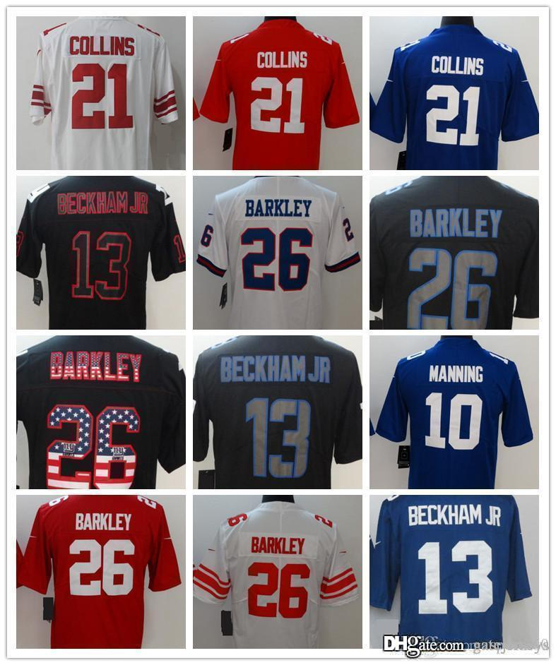 promo code 982f9 65a13 New York Jersey Mens #26 Saquon Barkley 13 Odell Beckham jr Impact Black 21  Landon 15 Marshall Collins Jerseys Cheap wholesales