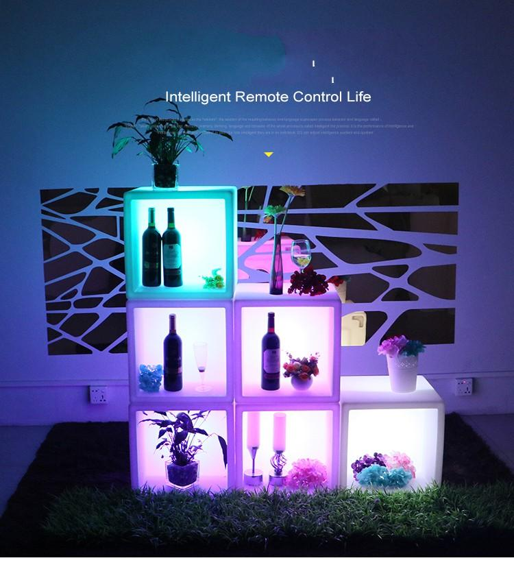 Furniture New Led Furniture Waterproof Led Display Case 40cmx40cmx40cm Colorful Changed Rechargeable Cabinet Bar Ktv Disco Party Decoratio Selected Material