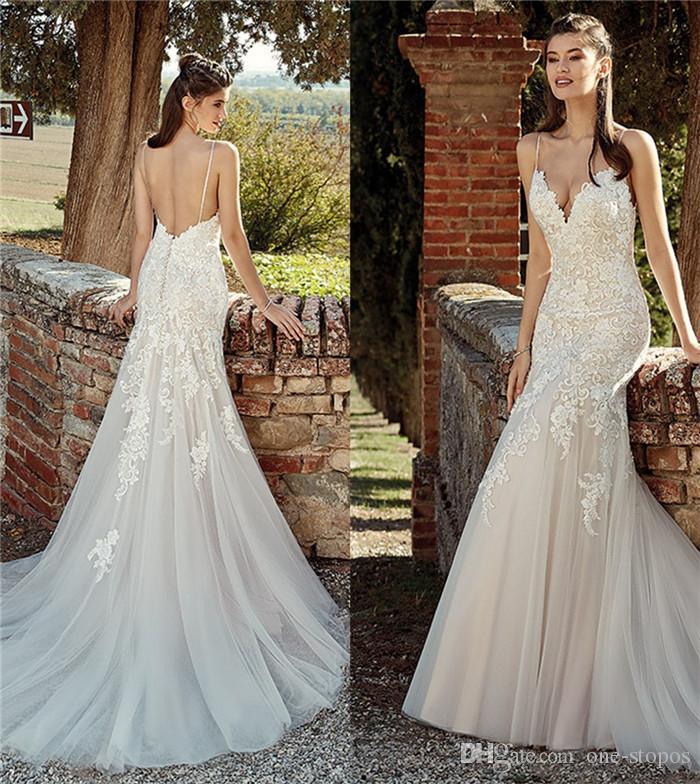 Cheap Modest Simple Long Sleeve Wedding Dresses Discount Sheath Column Wedding  Dress Low Back ef39382c5c8c