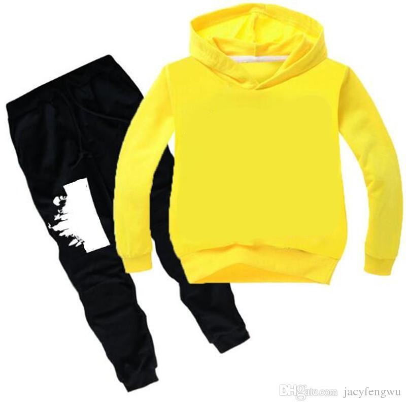 60d3e37f0 Designer Baby Girls Children Tracksuit big Boy Long sleeve Hoodies Baby  Sweater Shirt + pants 2pcs Suit Kids Girls Outfits 3-14 years CQZ172