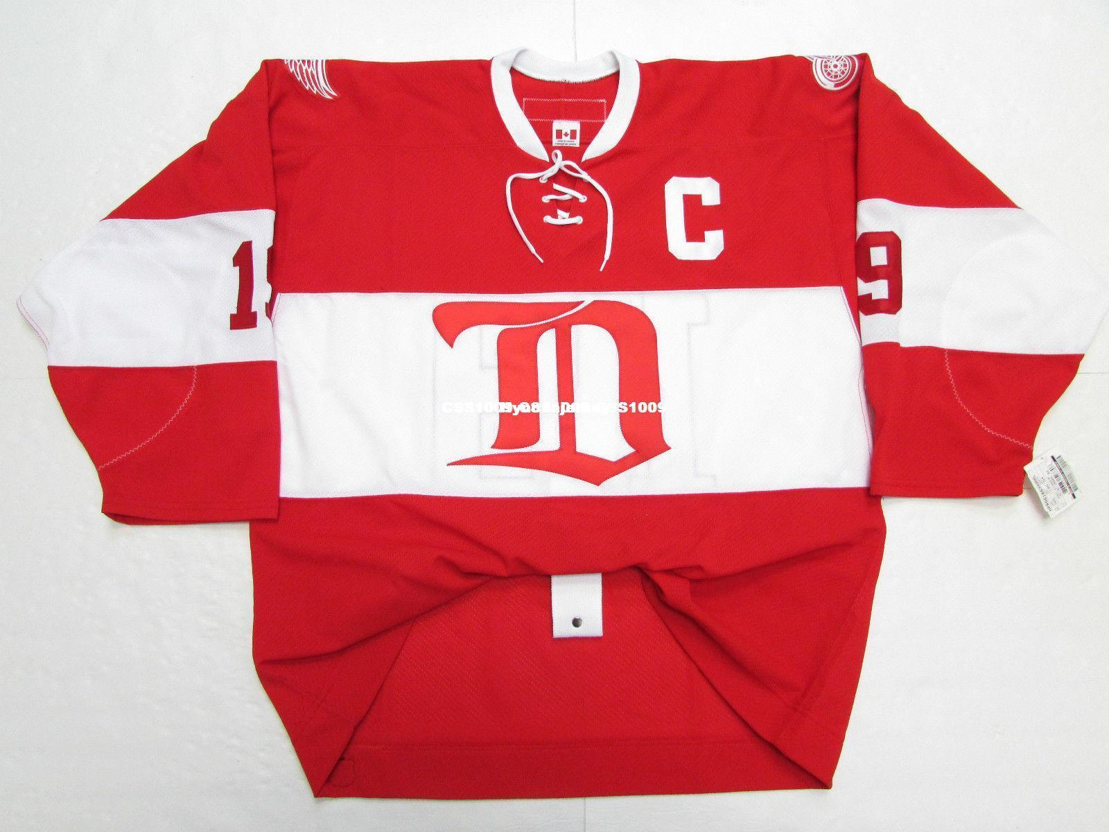 93713aa0 2019 Cheap Custom STEVE YZERMAN DETROIT RED WINGS VINTAGE CCM 6100 RED  HOCKEY JERSEY Stitch Add Any Number Any Name Mens Hockey Jersey XS 6XL From  ...