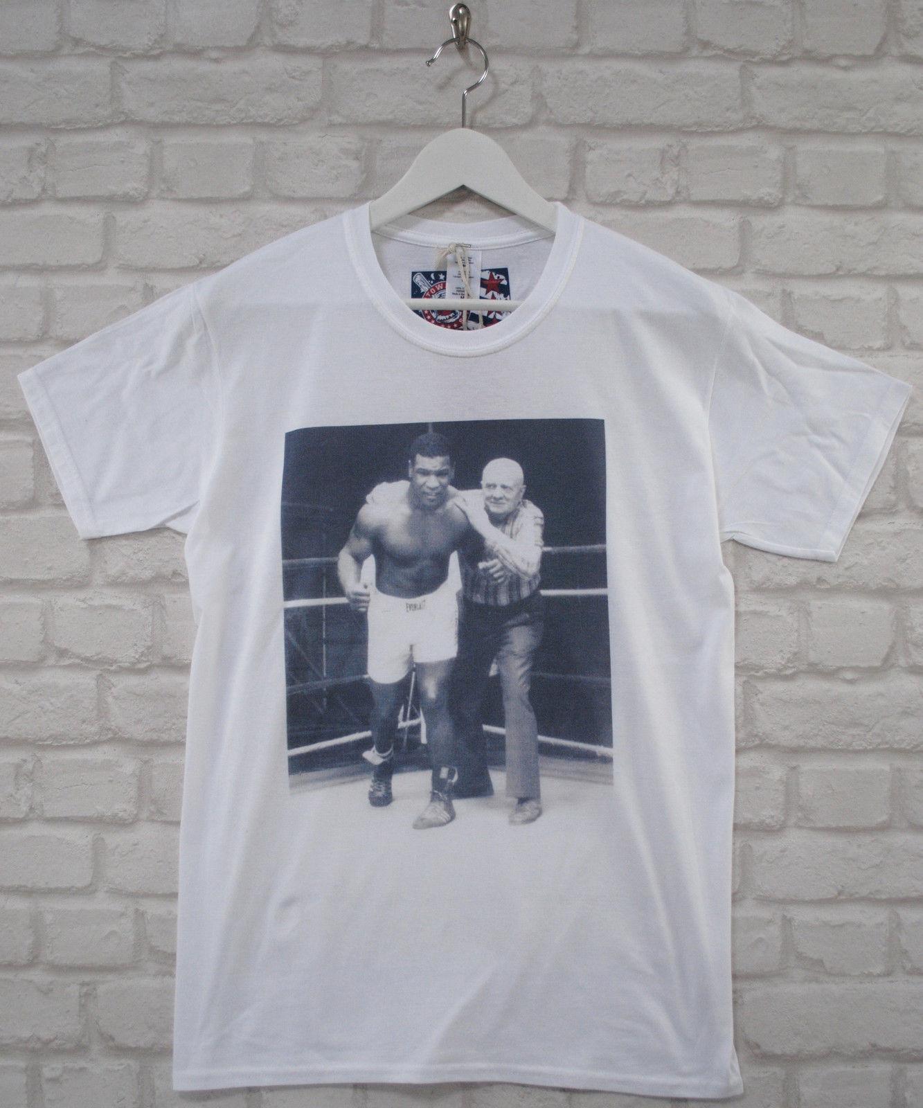 16593af994 Compre Mike Boxeo Cus Demato Camiseta Con Cuello Redondo En Color Blanco  Vintage Camiseta Tyson Camiseta De Manga Corta Y Talla Grande Camiseta Con  ...