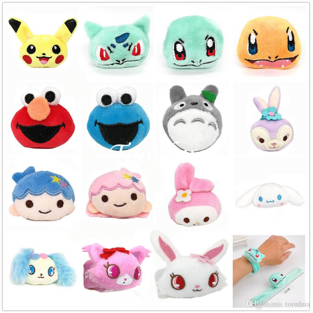 Urso polar New Charmander Bulbasaur Squirtle tapa Little Star gêmeo Melody Sapphire Saffy Rubi White Hare Pulseira Hairband Xmas Plush Dolls
