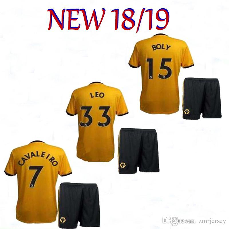 7255bf93f 2018 Wolverhampton Wanderers Soccer Jersey NEVES 8  JOTA 18  AFOBE ...