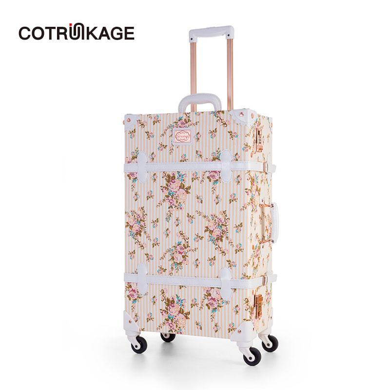 Gepäck Sets Gepäck & Reisetaschen Cotrunkage 20 tragen Auf Koffer Tsa Lock Vintage Koffer Roll Stamm 2 Stück Gepäck Set Für Frauen Mit 13 kosmetische Fall