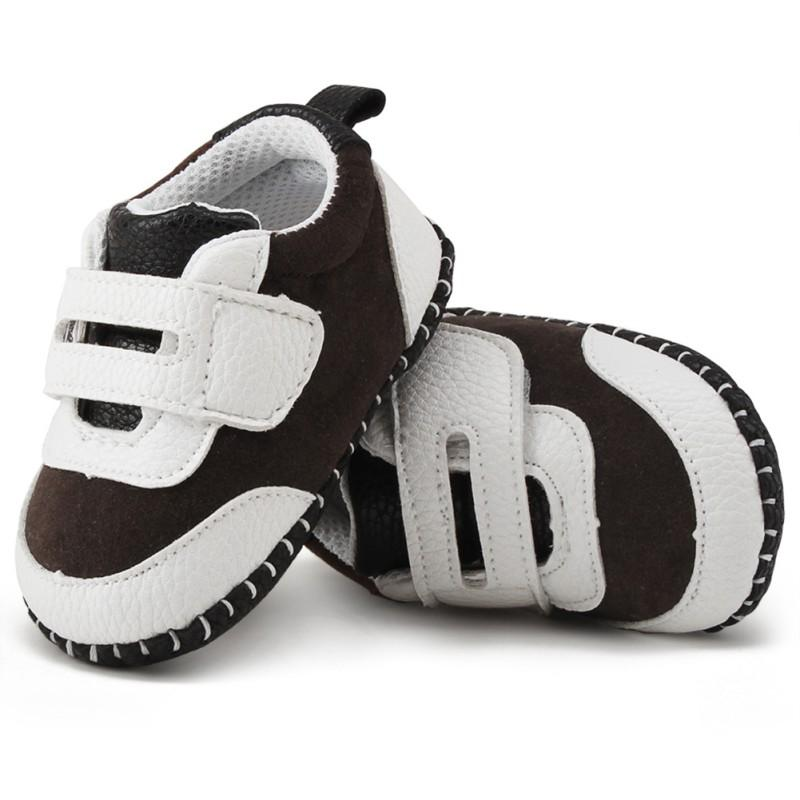 Cute Baby Boys PU Girls Walker Toddler Patch First Shoes Casual Suede Anti-slip