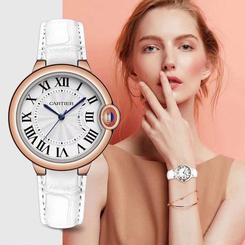 66586f3a731b Compre CA Logo Marca Relojes De Lujo Para Mujer Reloj De Moda De Cuarzo  38mm Cinturón De Cuero Marca De Relojes De Lujo Reloj Femme A  15.23 Del  Wsndy ...
