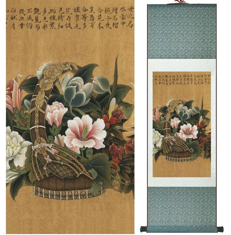 Flowers Painting Chinese Traditional Art Painting Home Decoration Paintings No.32206