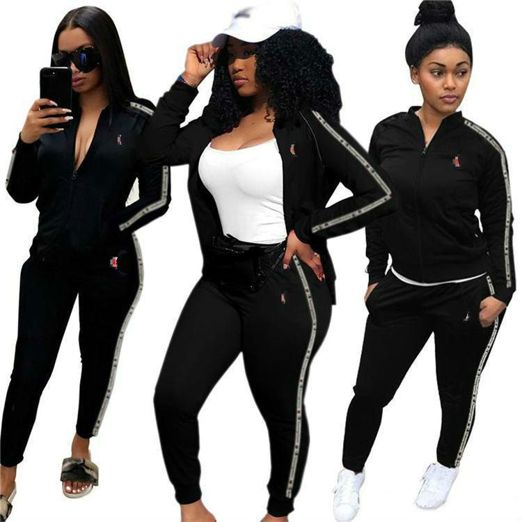 2019 Women Casual Print Tracksuit Womens Tracksuits Sport Gym Sweatsuits  Tops With Zipper + Pants Woman Set Outfit Clothes O1029 From Bossbaba 581f02cfae49