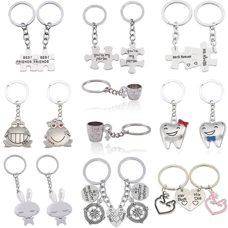 d6df670d2c Love Couple Keychain You Are My Person Rabbit Frog Cups Chain Animal Heart  Key Ring For Lovers Best Friends Llaveros C19011001 Couples Keychains Couple  ...