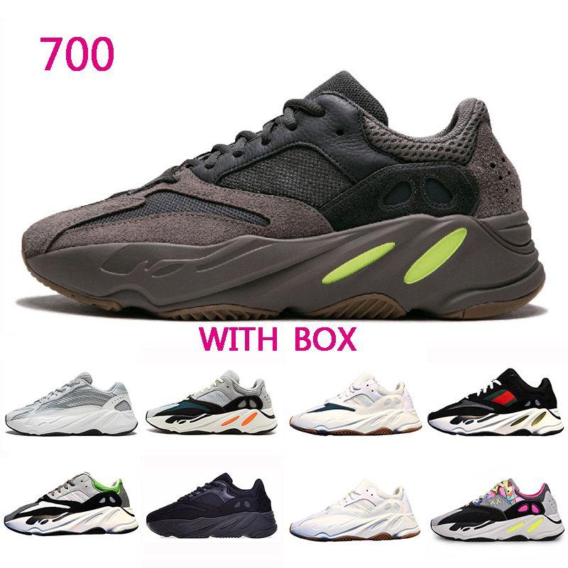 b1003f3c61e25 Kanye West 700 Wave Runner Men Women Running Shoes Static Inertia OG ...