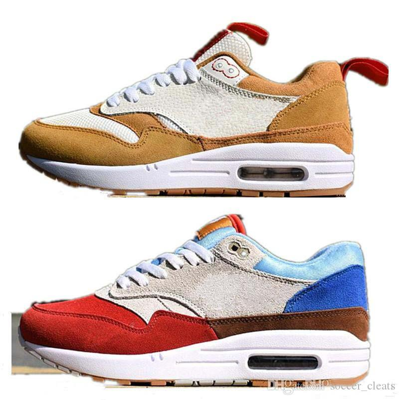 a9fdbffd6eecc 2019 2019 What The 1 Premium Multicolor Mars Yard Yellow Albert Heijn Sport  Running Shoes For Retro 1s Women Mens Trainers Sneakers Size 36 45 From ...