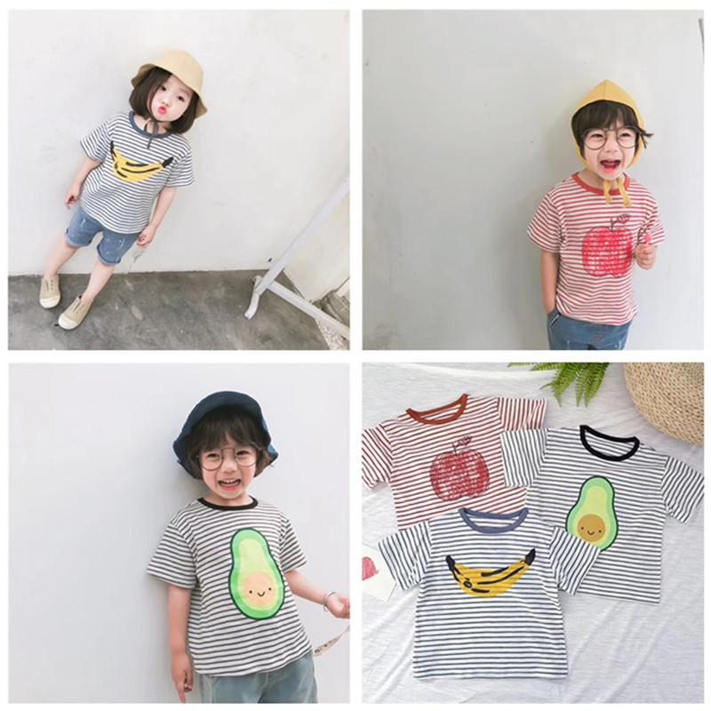 2019 2019 Bobo Choses Fruits T Shirts Children S Clothing Baby Boys Girls  Striped Cotton Fashion Summer T Shirt 1 10Years From Textgoods07 f42699f146fb