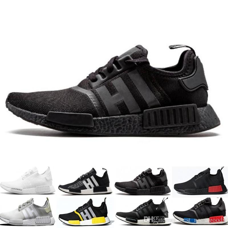 detailed look a2a35 75bc2 Cheap NMD R1 Running Shoes OG Japan Triple black White Solar Red Core Oreo  Tri-Color Men Women Designer Trainer Sport Sneaker Size 5-11