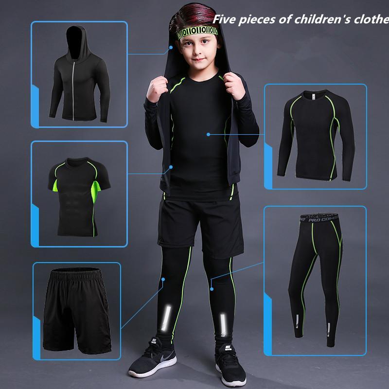 Children's training suit male running fitness pants primary school basketball football bottom fast dry breathable compression pantsSafety re