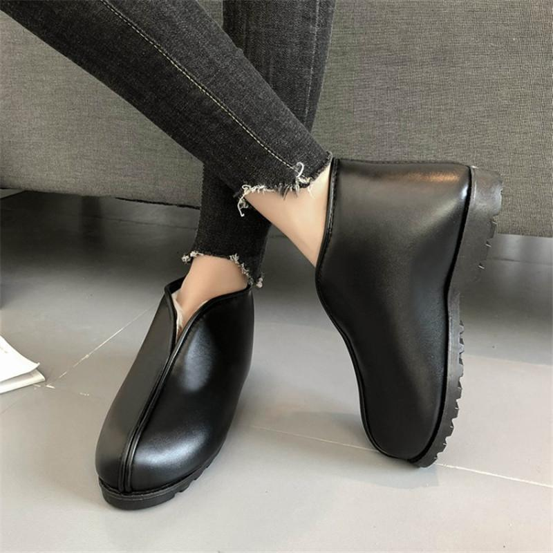Compre COOTELILI Botas De Tobillo De Invierno Para Mujer 2018 Botas Mujer  Resbalón En Botas De Nieve De Mujer Zapatos De Felpa Caliente Pisos Negro  35 41 A ... a2817c97e4a1