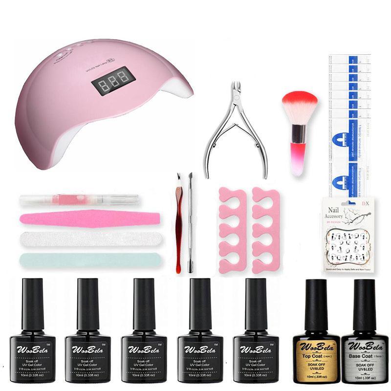 Professional Manicure Tools Set LED Nail Lamp UV Gel Nail Polish ...
