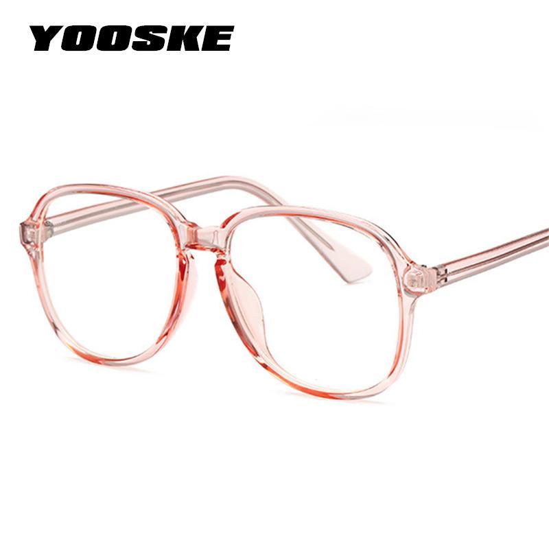 3a0c54fbd77 2019 YOOSKE High Quality Clear Glasses Frame Women Fashion Optical Eye  Glasses Frames Men Clear Frame Lens Eyewear From Rivelchang