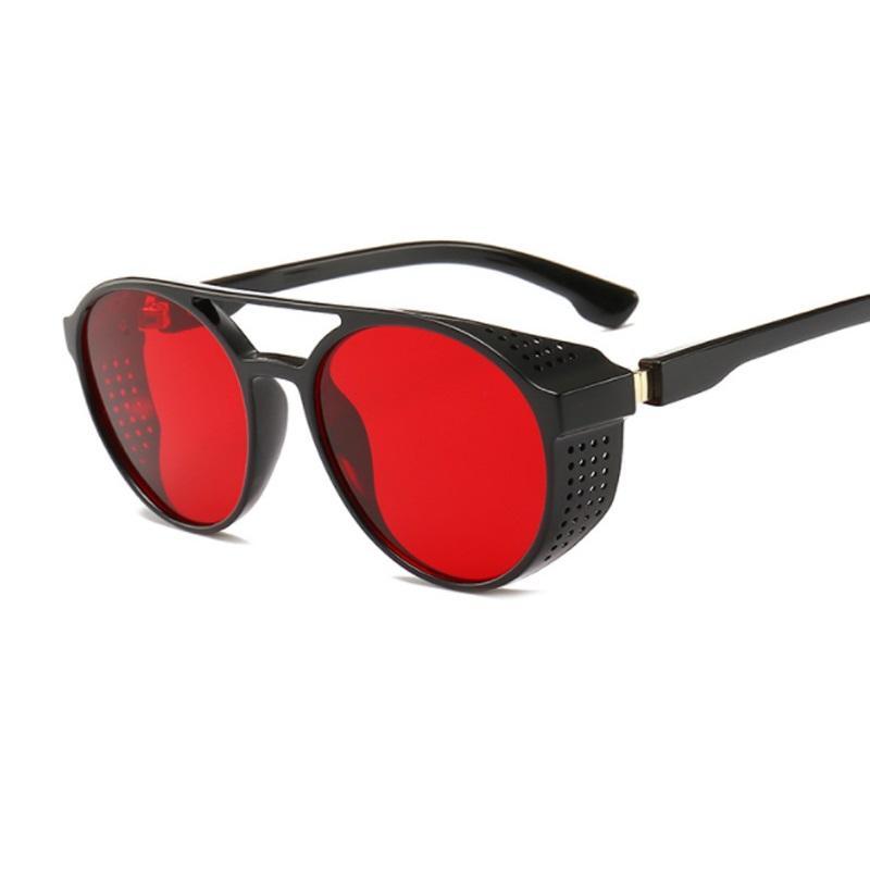0464428008a2f Acheter Vintage Designer Steampunk Lunettes De Soleil Pour Hommes Et Femmes  Rétro Gothique Lunettes De Mode Unisexe Ronde Lunettes Oculos De Sol De   33.22 ...