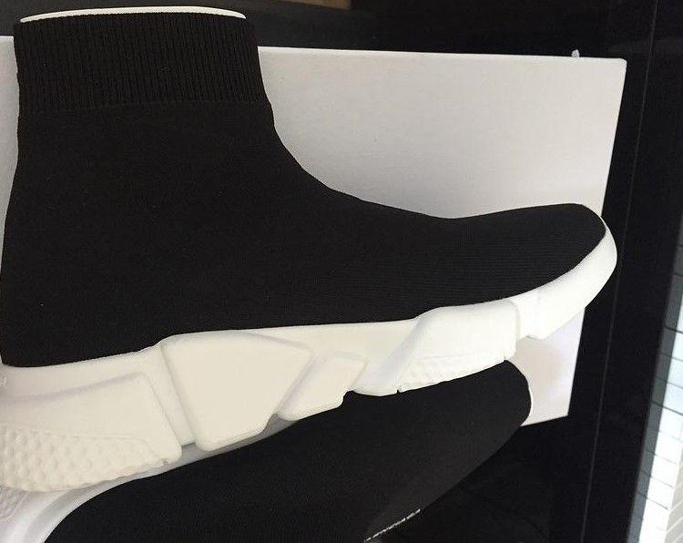 new arrivals cdb8e 3db9a Balenciaga Vapormax Off White CALIENTE NUEVOS Calzado De Alta Calidad  Zapatos Speed Trainer Para Hombres Y Mujeres Zapatos Calzado De Punto  Elástico ...