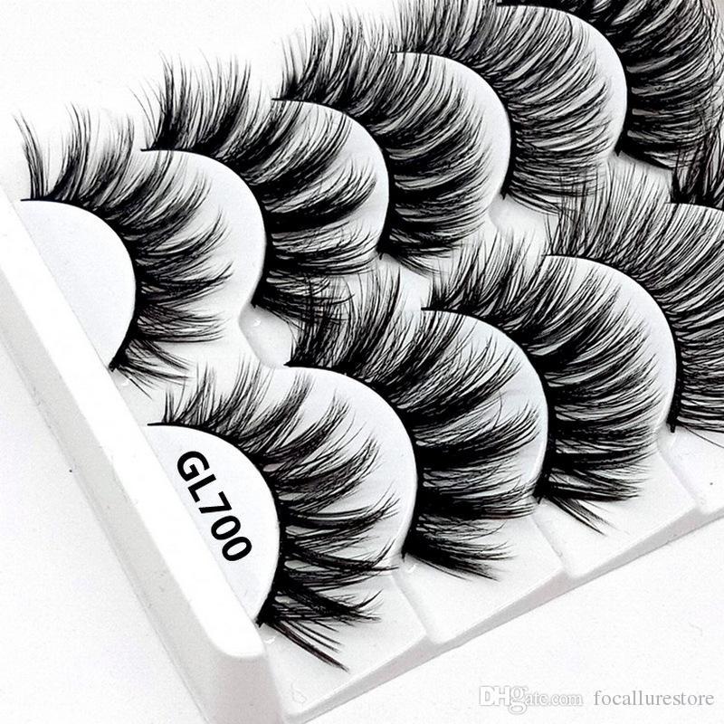 a6c81b2b0ce 3D Mink Lashes False Eyelashes Natural Makeup Eyelash Extension Long Cross  Volume Soft Fake Eye Lashes Winged Faux Cils Double Eyelashes Eyelash  Extensions ...